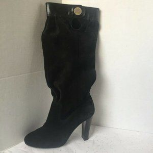 Michael Kors Black Suede Slouch Boot - 7 M